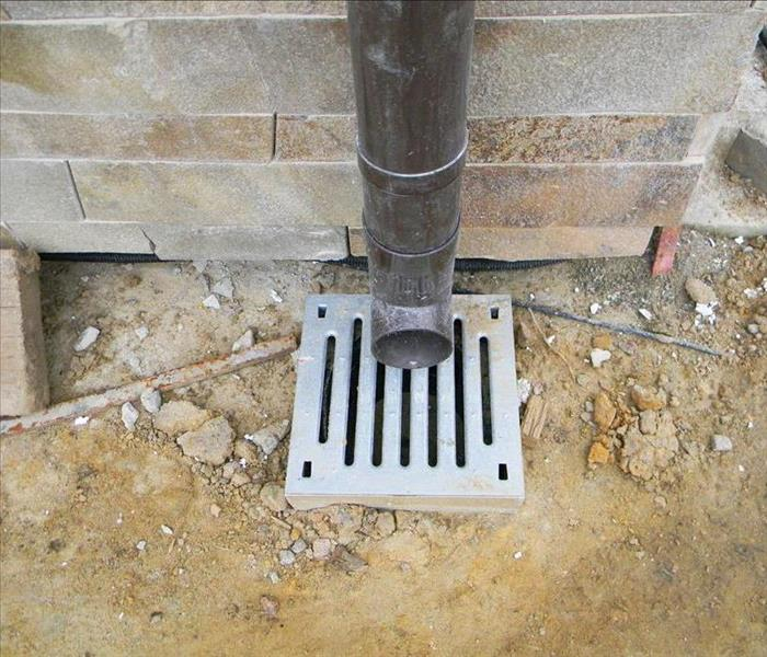 downspout to drainage system